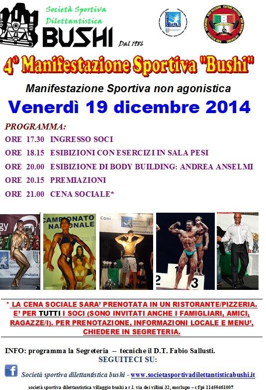 4° Manifestazione Sportiva Bushi 4° Manifestazione Sportiva Bushi 4° Manifestazione Sportiva Bushi Quarta Manifestazione Bushi Morlupo