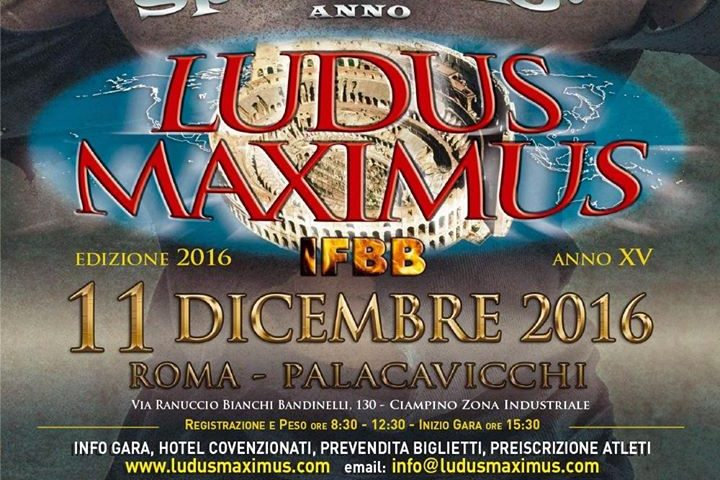 Speciale 15° Anno –  Ludus Maximus IFBB 2016 14290488 6060028054509 1622316839 n 720x480